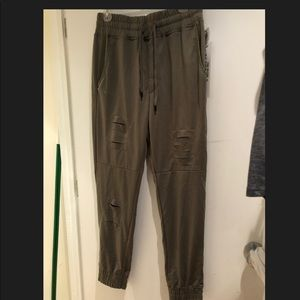 Olive joggers